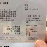 2013年、阪神タイガース・甲子園に行く日のチケットが届いたねん〜munejyuka日誌