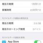 iPhone5Sのモバイルデータ通信量、1ヶ月目〜munejyuka日記