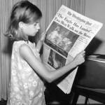 家に帰ったら新聞が配達されていた朝