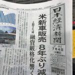 日本経済新聞の夕刊は70円です!