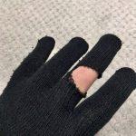 アディオス、手袋!