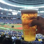 Asahi Super Dry at Kyocera Dome is 750 yen per cup!