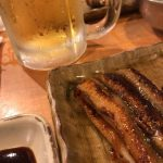 ビールとアナゴやで!